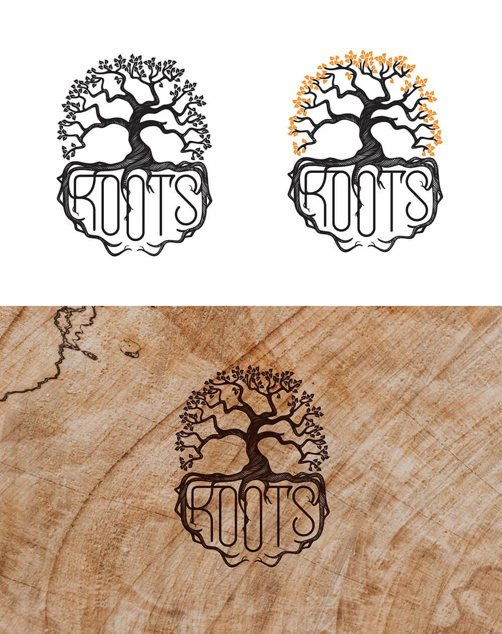 Логотип для кулинарной студии в Калининграде Roots